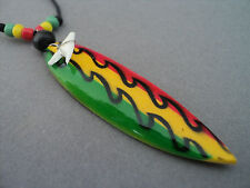 SHARK TOOTH RASTA NECKLACE SHARKS TOOTH SURFER TRIBAL SHARKS TEETH ADJUSTABLE