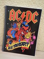 AC/DC Collegeblock Notizblock DIN A4 80 Blatt kariert Block Notizen acdc Motiv 2
