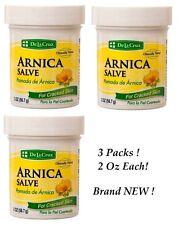 ARNICA SALVE De La Cruz Pomada De Arnica For Cracked Skin 2 oz Each 3 Packs NEW