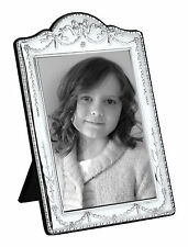 "SOLID SILVER PHOTOGRAPH FRAME (Swag & Bow) 10 X 8 "" by Carr's"