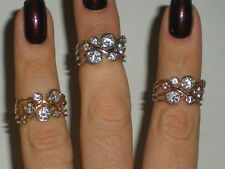 ladies 14k yellow, white and rose gold rings with CZ's right hand ring