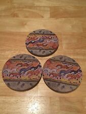Set of 3 ThirstyStones Drink Cup Coasters Set Sandstone & Non-slip Cork Backing