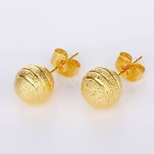 New Beads Earstud 18k Yellow Gold Filled Women's Earrings Fashion Hoops Jewelry