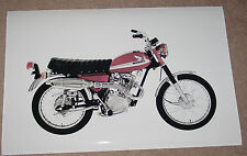 1970 HONDA CL-100 CL100 VINTAGE MOTORCYCLE POSTER 24x36