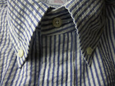 New! Brooks Brothers  Seersucker Shirt ~ NWT - Slim Fit ~ USA ~ Large
