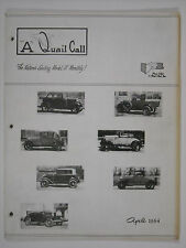 April 1964 A Quail Call Penn-Ohio Ford Model A Inc. Club Magazine