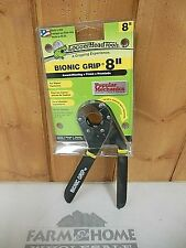 "Bionic Grip 8"" Adjustable Wrench Logger Head Tools ~ New ~ Free Shipping"