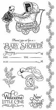 Graphic45 Cling Stamps-PRECIOUS MEMORIES #2 scrapbooking Set of (7)