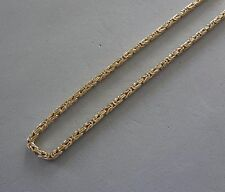 "LUXURIOUS 750 ITALY YELLOW GOLD 4-SIDED BYZANTINE 24"" CHAIN LINK NECKLACE- 30 GR"