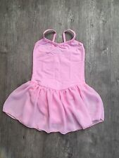Girls Pink Ballet Dance Skirted Leotard Tutu Skirt Ballerina Dancewear Dress UK