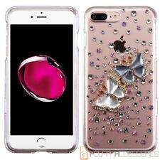 For APPLE IPHONE 7 PLUS Butterfly Lovers 3D Bling Crystal Clear Case Cover
