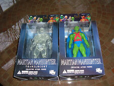 "DC DIRECT/JUSTICE LEAGUE SERIES 5 ""MARTIAN MANHUNTER & TRANSLUCENT"" FIGURE! MIP!"