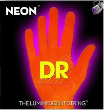 DR NOE-7-9 Neon Orange Fluorescent Electric Guitar strings 7 String Set 09-52