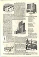 1846 CUCINA miglioramenti arrostimento gamma GAS FORNELLO carne sicura CASSETTO GHIACCIO