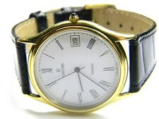 Concord Tiffany & Co 14k solid gold date roman numeral dress watch 20 78 214