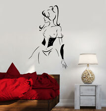 Vinyl Decal Hot Sexy Girl Lingerie Abstract Woman Decor Wall Stickers (ig1779)