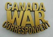 WWII - CANADA WAR CORRESPONDENT (Reproduction)
