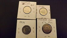 CANADA 5 CENT LOT NICE COINS