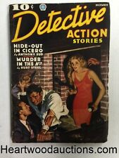 """""""Detective Action Stories"""" December 1936 Villian in the Wall - High Grade"""