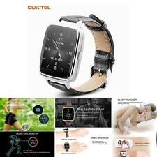 "OUKITEL A28 Smart Watch 1.54 ""Touch Screen Leather Watchband Moda Per Smartphone"