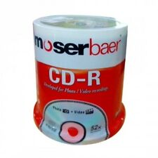 Moserbaer CD-R 700MB 52X Compact Disc Recordable 100 Pack Box Broken