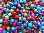 100 x Christmas Jingle Bell Charms Multi-coloured Small 8mm Crafts Jewellery UK