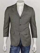 JACK VICTOR COLLECTION Gray Micro Houndstooth Super 100's Wool Tweed Blazer 38S