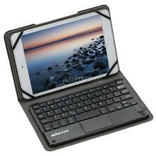 Mini Bluetooth Keyboard TouchPad with Foldable Leather Case for Android PC K7Z9
