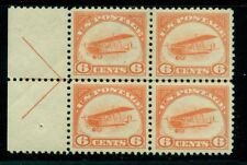 US #C1 6¢ orange, ARROW Block of 4, 2NH/2LH, XF, Scott for singles $370.00+