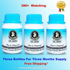 Dr James Glutathione - Skin Whitening Pills - 3 Bottles
