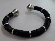 GENUINE Elephant tail hair bracelet for blessing of love,health,luck,progress#11