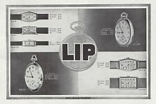 Publicité Montre LIP montres  Watch photo vintage print ad  1930  - 6h