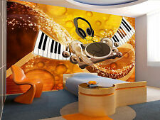 Music Background II Wall Mural Wallpaper GIANT WALL DECOR PAPER POSTER FREE GLUE