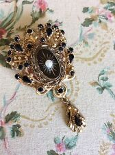 Wow! Vintage Signed SPHINX Numbered Victorian Revival Antiqued Brooch! Ex Cond.
