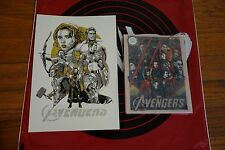 Tyler Stout The Avengers Steel Book Blu Ray plus Gold Hand Bill Mondocon 2016