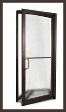 COMMERCIAL ALUMINUM STOREFRONT DOOR & FRAME (DARK BRONZE FINISH)