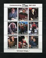 ST. VINCENT GRENADINES COMMEMORATING  STAR TREK PART II  SHEET OF NINE MINT NH