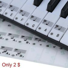Style Transparent 49 61 Electronic Keyboard 88 Key Piano Stave Note Sticker yhn