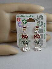 Claire's  Holiday Christmas Ho Ho Ho Santa is Here Earrings  USA SELLER