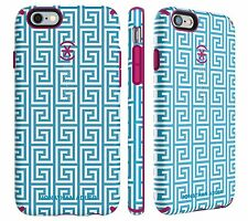 Speck Johnathan Adler CandyShell Inked Case for iPhone 6 6s (AquaGreekKey/Pink)
