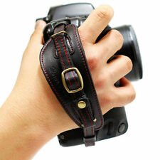 HORUSBENNU DSLR SLR Camera Leather Universal Hand Grip Strap Black/Red