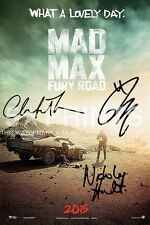 "MAD MAX FURY ROAD POSTER PHOTO 12x8"" SIGNED PP 3 CAST TOM HARDY NICHOLAS HOULT A"
