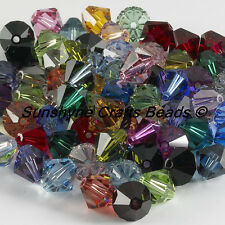 SWAROVSKI CRYSTALS Beads 5301/5328 MIXED Bicones 4MM 25 Pcs
