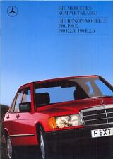 Mercedes-Benz W201 190, 190E 2.3 + 2.6 1987 German market sales brochure