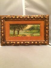 Vintage 60's Original Antonio Tano Landscape Oil on Artist Board Signed & Framed