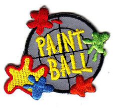 """PAINT BALL""- Iron On Embroidered  Patch /Games, Competition, Entertainment, Fun"