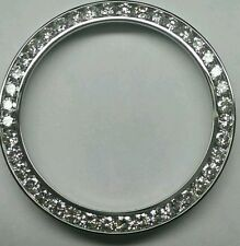 CUSTOM 6.12 CT BIG DIAMOND BEZEL FOR BREITLING SUPER AVENGER CHANNEL SETTING