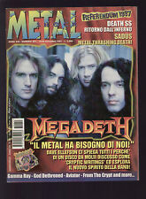 METAL SHOCK 251/1997 MEGADETH THE KEY SADUS DEATH SS WILL O WISP SAIGON KICK