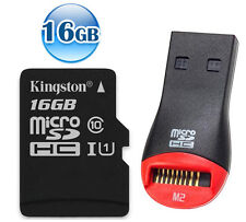 KINGSTON 80MB/s* CLASS 10 micro SDHC 16GB 16G micro SD Flash Memory Card UHS-I +