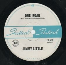 "JIMMY LITTLE   BEE GEES   Rare 1964 Aust Only 7"" OOP Festival Single ""One Road"""
